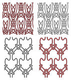 Комплект элементов конструкции вектора безшовных кельтских Стоковая Фотография RF