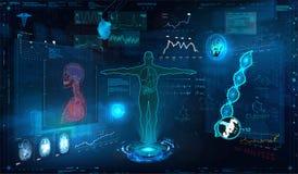 Комплект элементов медицинского осмотра HUD бесплатная иллюстрация