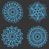 Комплект элементов спирографа вектора универсальных Стоковые Фото