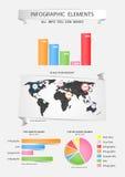 Комплект элементов Infographic. Стоковое Изображение RF