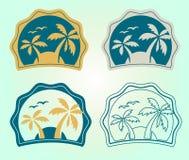 Комплект эмблем лета и элементов дизайна стоковое фото