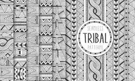 Комплект 6 этнических безшовных картин Племенные геометрические предпосылки Современные печати конспекта Стоковое Фото