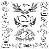 комплект ярлыка хлеба Стоковое Фото