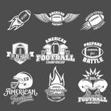 Комплект ярлыков логотипа американского футбола Стоковые Изображения RF