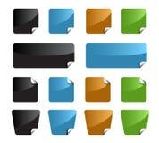 комплект ярлыков цвета Стоковое фото RF