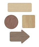 Комплект деревянных знаков Стоковое фото RF