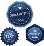 комплект джинсовой ткани знамен Стоковое Фото