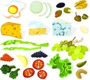 комплект 01 еды Стоковые Изображения RF