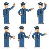 комплект 03 полиций характера Стоковые Фотографии RF