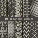 Комплект 10 японских картин Стоковые Изображения RF