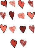 Комплект 14 сердец Стоковая Фотография RF