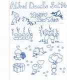 комплект 14 doodle Стоковая Фотография