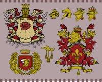 комплект 15 элементов heraldic Стоковое фото RF