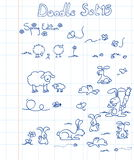 комплект 15 doodle Стоковые Изображения