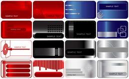 комплект 16 карточек Стоковые Фотографии RF