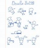 комплект 19 doodle Стоковое Изображение RF