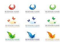 комплект 2 логотипов Стоковая Фотография RF