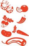 комплект 2 плодоовощей Стоковые Изображения RF