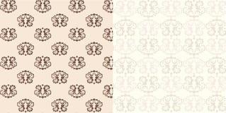 комплект 2 предпосылок классицистический декоративный безшовный Стоковые Изображения