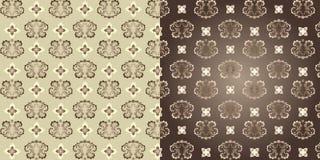 комплект 2 предпосылок классицистический декоративный безшовный Стоковые Фотографии RF