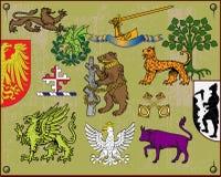 комплект 2 элементов heraldic Стоковое фото RF