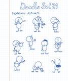 комплект 21 doodle Стоковые Фотографии RF
