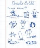 комплект 22 doodle смешной Стоковое Изображение RF