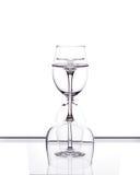Комплект 3 пустых стекел вина Стоковые Изображения