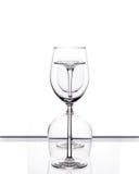 Комплект 3 пустых стекел вина Стоковая Фотография