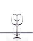 Комплект 3 пустых стекел вина Стоковые Фотографии RF
