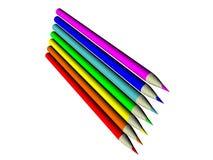 комплект 34 карандашей иллюстрация вектора