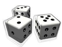 Комплект 3d dice или умирает Стоковые Изображения RF