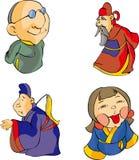 комплект 4 личностей Стоковое Изображение