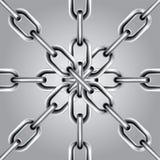 комплект 5 цепей иллюстрация вектора