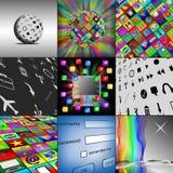 Комплект 9 изображений Стоковое Изображение RF