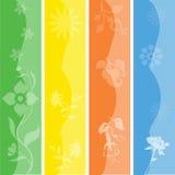 комплект bookmarks знамен сезонный Стоковая Фотография RF