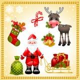 комплект claus santa рождества бесплатная иллюстрация