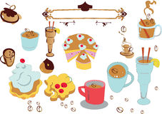 комплект coffe иллюстрация штока