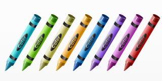 комплект crayon Стоковые Фото