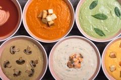 Комплект cream супов Стоковое фото RF
