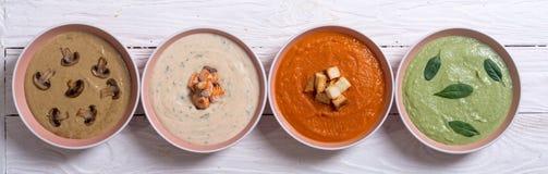 Комплект cream супов Стоковое Изображение
