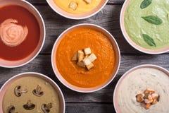 Комплект cream супов Стоковое Изображение RF