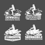 Комплект dadges снегохода Стоковое Изображение RF