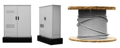 комплект differentelectric продукции коммутатора, серый белизна изолированная предпосылкой стоковые изображения rf
