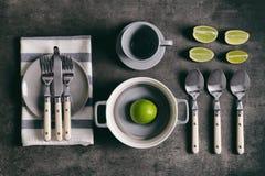 Комплект dinnerware стоковые изображения
