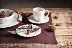 Комплект dinnerware стоковые изображения rf