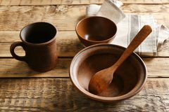 Комплект dinnerware стоковое изображение