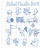 комплект doodle 2 Альфред Стоковые Фото