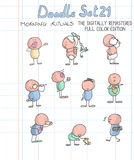 комплект doodle 21 цвета полный Стоковая Фотография RF