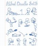 комплект doodle 3 Альфред Стоковое Изображение